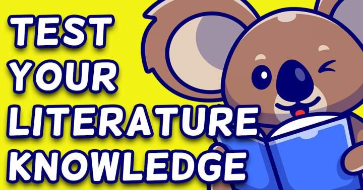 Literature Knowledge Quiz